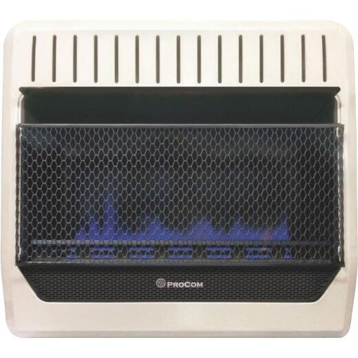 ProCom 30,000 BTU Natural Gas or Propane Gas Vent-Free Blue Flame Wall Heater