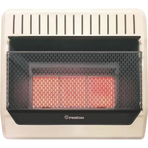 ProCom 30,000 BTU Natural Gas Vent-Free Infrared Plaque Gas Wall Heater