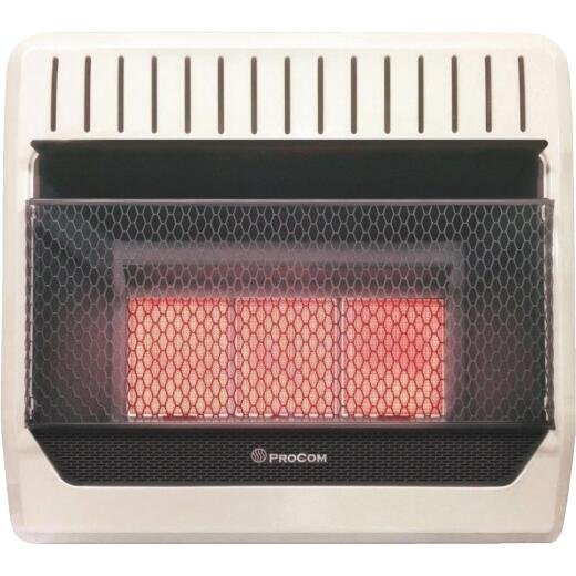 ProCom 28,000 BTU Propane Gas Vent-Free Infrared Plaque Gas Wall Heater