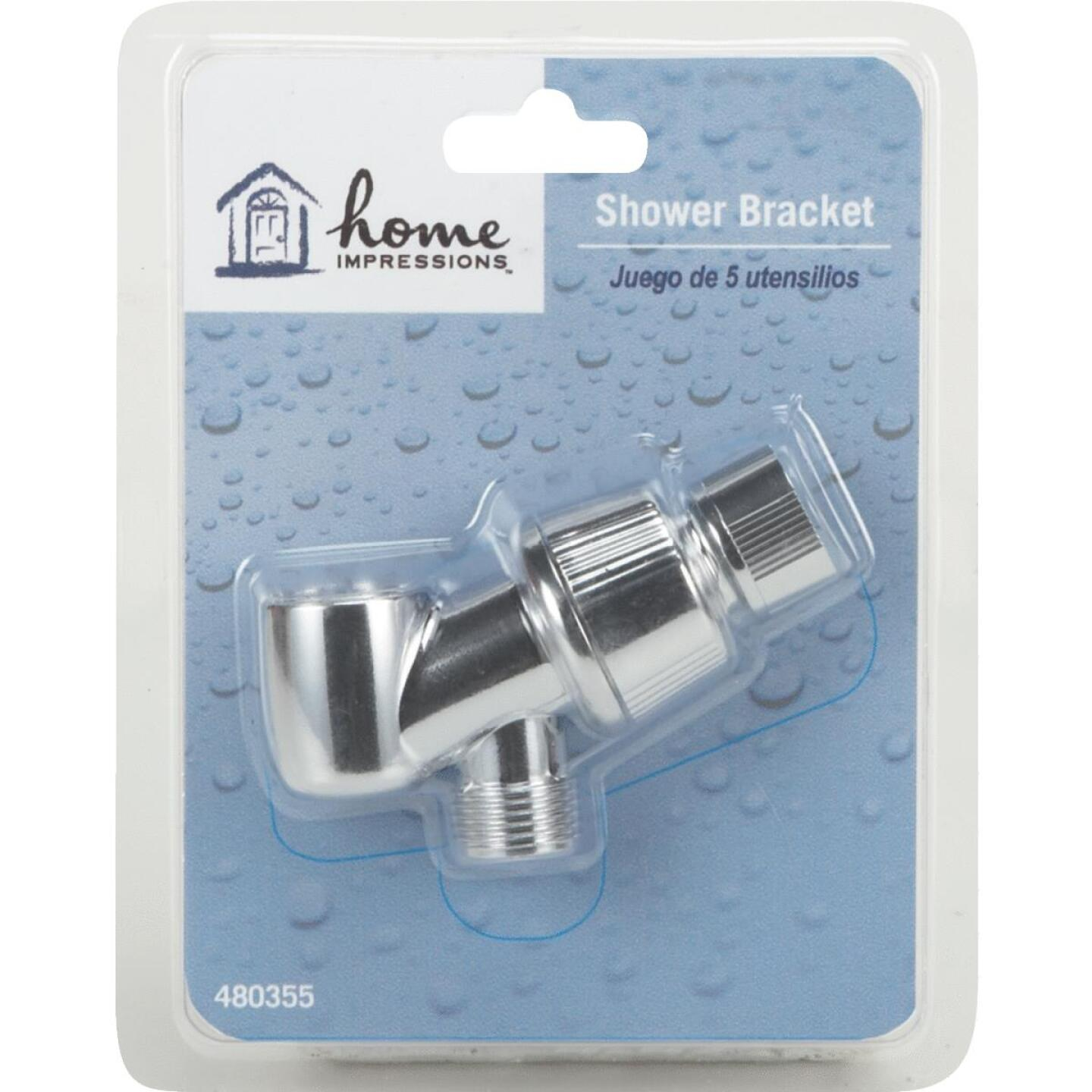 Home Impressions Chrome-Plated Plastic Shower Bracket Image 2