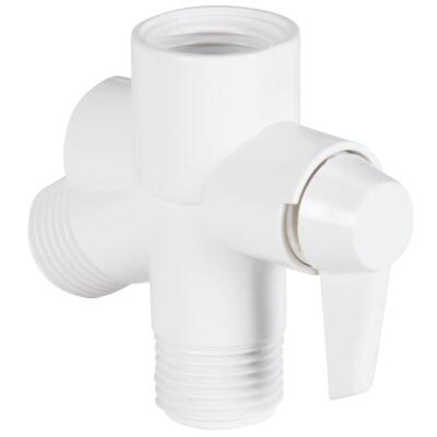 Do it  1/2 In. MPT White Plastic Shower Diverter