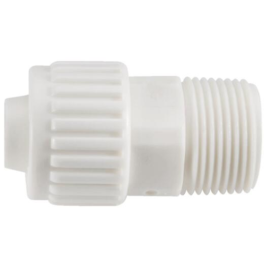 Flair-It 1/2 In. x 1/2 In. Poly Alloy Male Pipe Thread Adapter