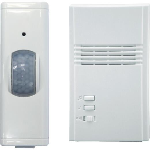 IQ America Motion Activated Entrance Alert Wireless Off-White Wireless Door Chime