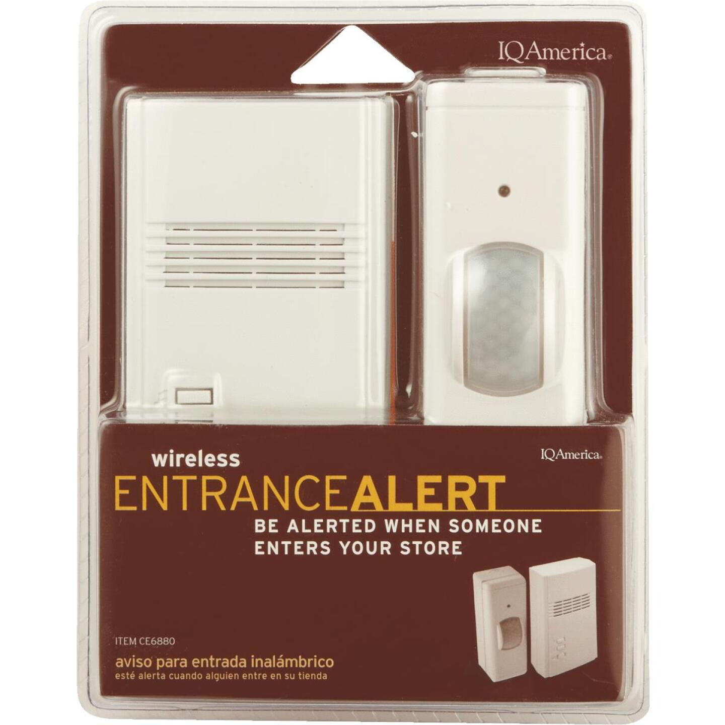 IQ America Motion Activated Entrance Alert Wireless Off-White Wireless Door Chime Image 2