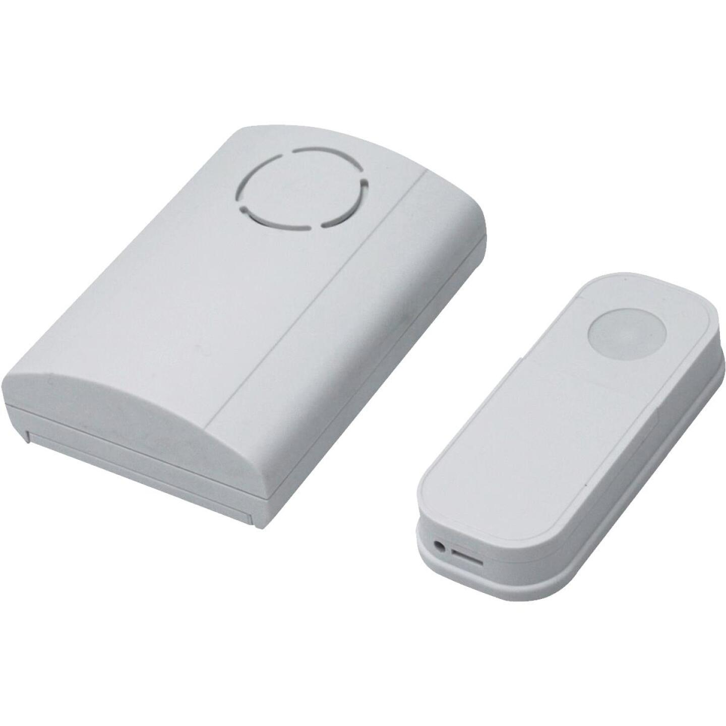IQ America Battery Operated Wireless White Door Chime Image 1