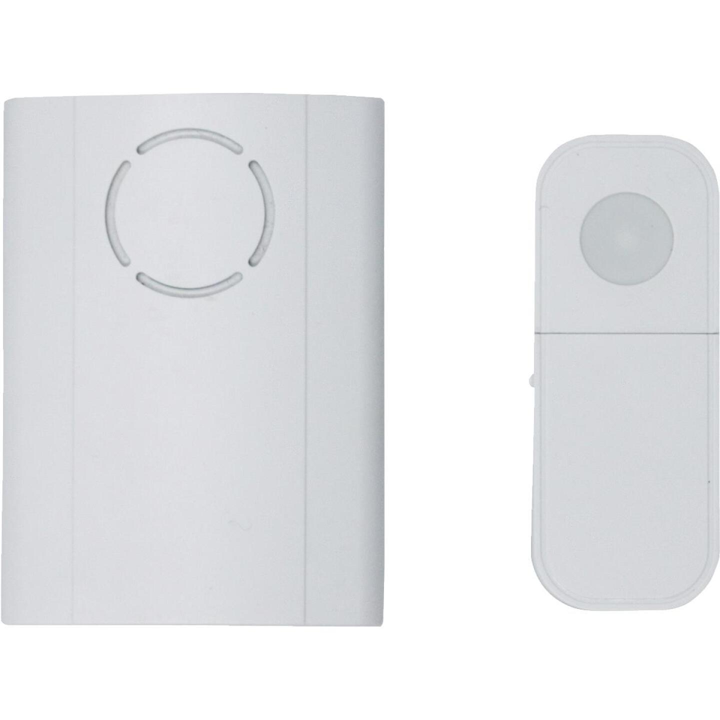IQ America Battery Operated Wireless White Door Chime Image 2