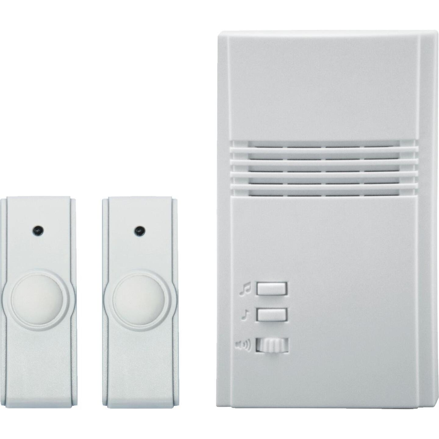 IQ America White Plug-In Wireless Off-White Door Chime with 2 Push Buttons Image 1