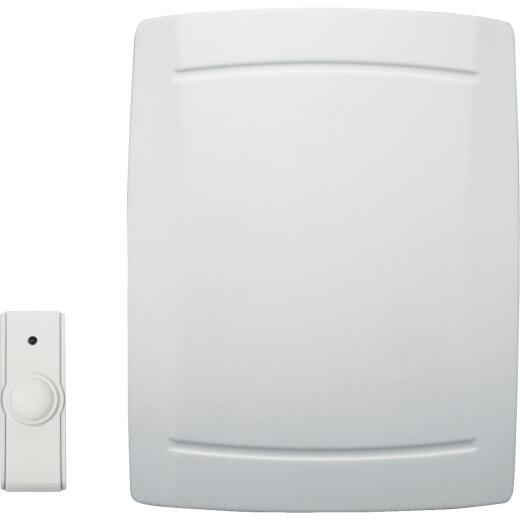 IQ America Step-Up Battery Operated Off-White Wireless Door Chime