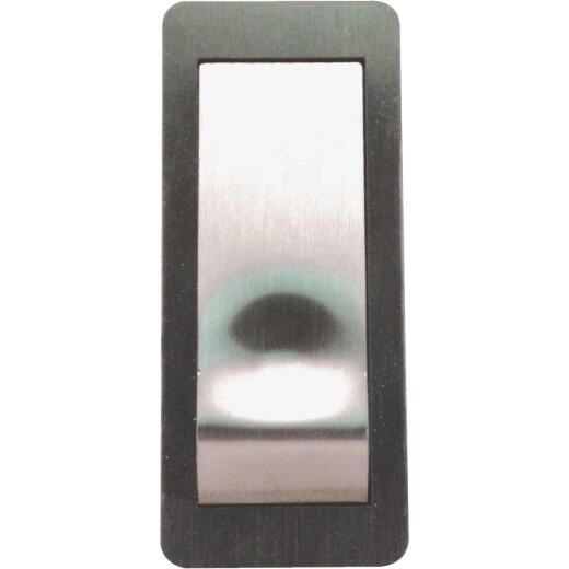 IQ America Wireless Satin Nickel Contemporary Doorbell Push-Button