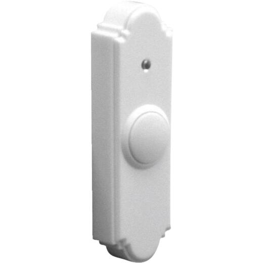 IQ America Wireless White Slimline Doorbell Push-Button