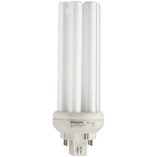 Philips 150W Equivalent Cool White GX24Q-3 Base PL-T CFL Light Bulb
