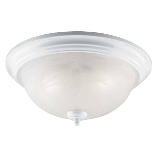 Home Impressions 15 In. White Incandescent Flush Mount Ceiling Light Fixture
