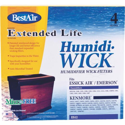 BestAir Extended Life Humidi-Wick ES12 Humidifier Wick Filter (4-Pack)
