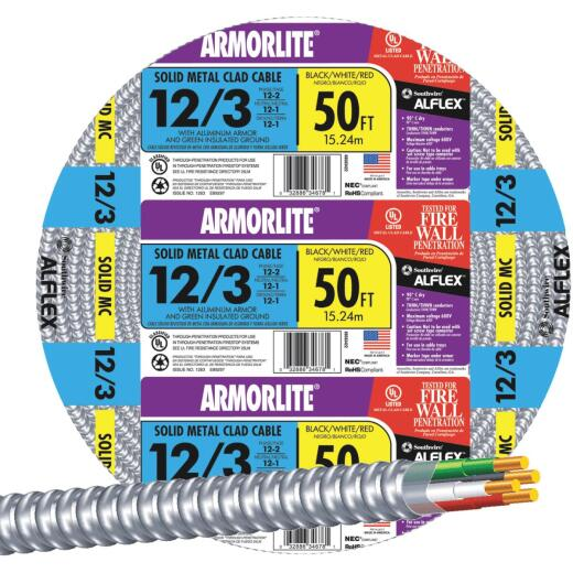 Southwire 50 Ft. 12/3 MC Armored Cable