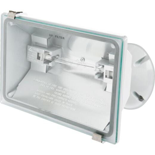 Designers Edge White Halogen Floodlight Fixture