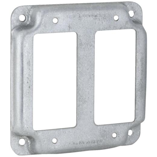 Raco GFI 2-Outlet 4 In. x 4 In. Square Device Cover