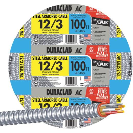 Southwire 100 Ft. 12/3 AC Armored Cable