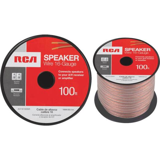 RCA 100 Ft. 16-2 Stranded Speaker Wire