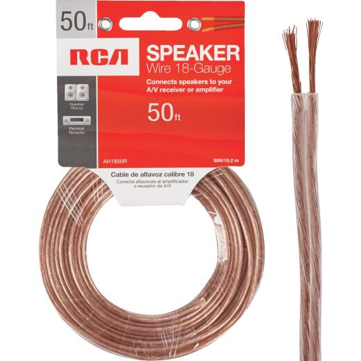 RCA 50 Ft. 18-2 Stranded Speaker Wire