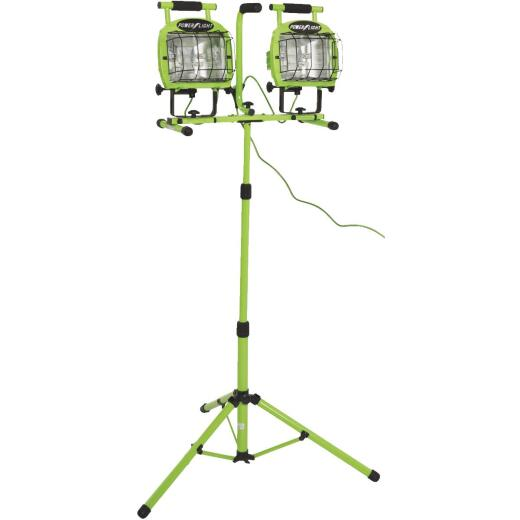 Designers Edge Power Light 22,400 Lm. Halogen Twin Head Tripod Stand-Up Work Light