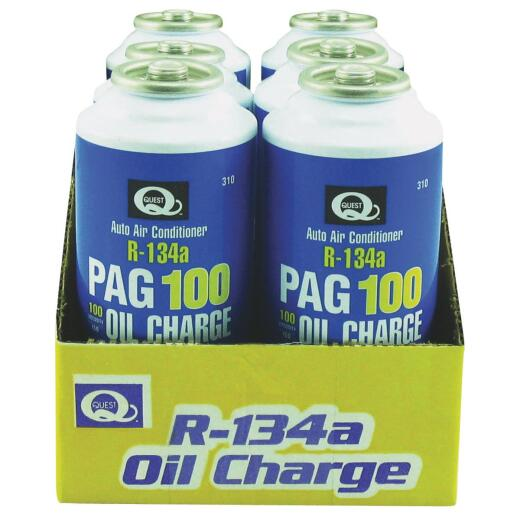 Quest R-134a with PAG Oil Air Conditioner Recharge Kit