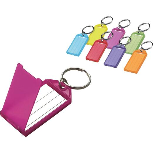 Lucky Line Assorted Transparent Colors 2-1/4 In. I.D. Key Tag with Ring, (100-Pack)