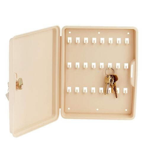Lucky Line Lockable Polypropylene 8-1/2 In. Key Cabinet