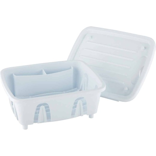 Camco Heavy-Duty Plastic 9.50 In. x 11.69 In. White RV Dish Drainer