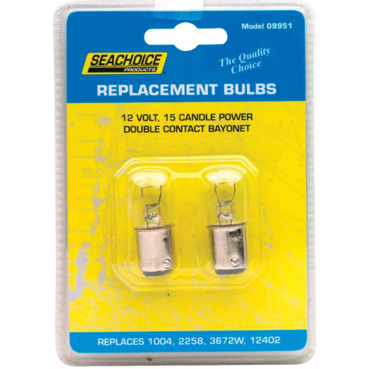 Seachoice Products 12W/12V Marine Replacement Bulb, GE 1004 (2-Pack)