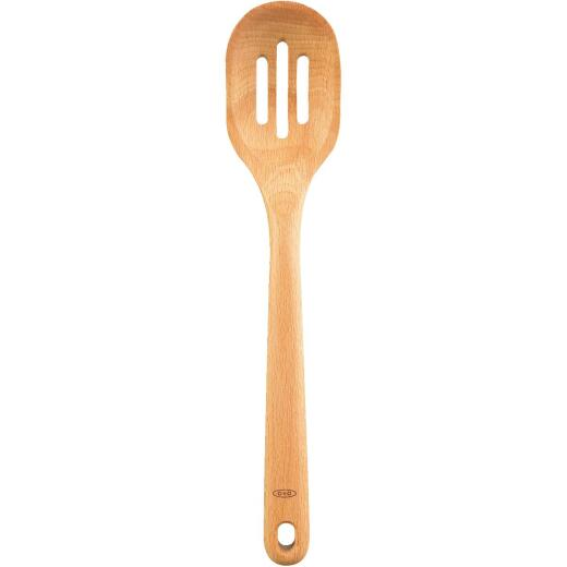 OXO Good Grips 14 In. Wooden Slotted Spoon