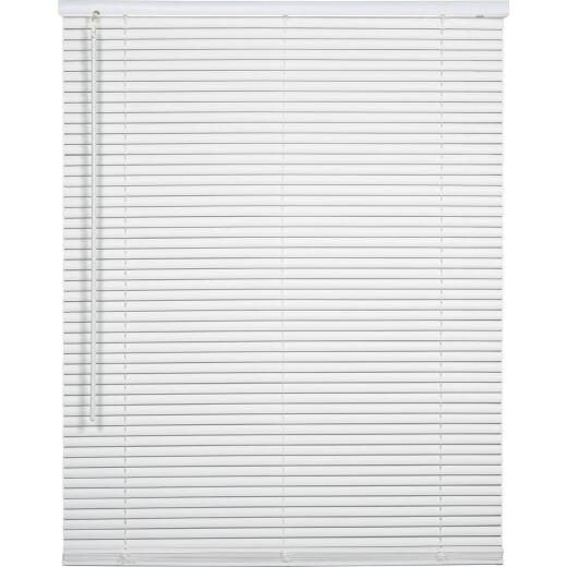 Home Impressions 48 In. x 64 In. x 1 In. White Vinyl Light Filtering Cordless Mini Blind