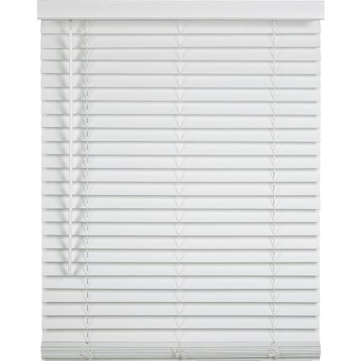 Home Impressions 29 In. x 64 In. x 2 In. White Faux Wood Cordless Blind