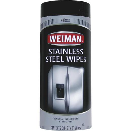 Weiman Stainless Steel Wipes, 30-Ct