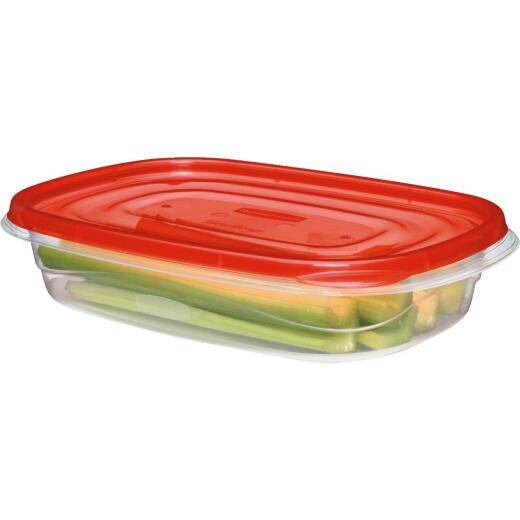Rubbermaid TakeAlongs 4 C. Clear Rectangle Food Storage Container with Lids (3-Pack)