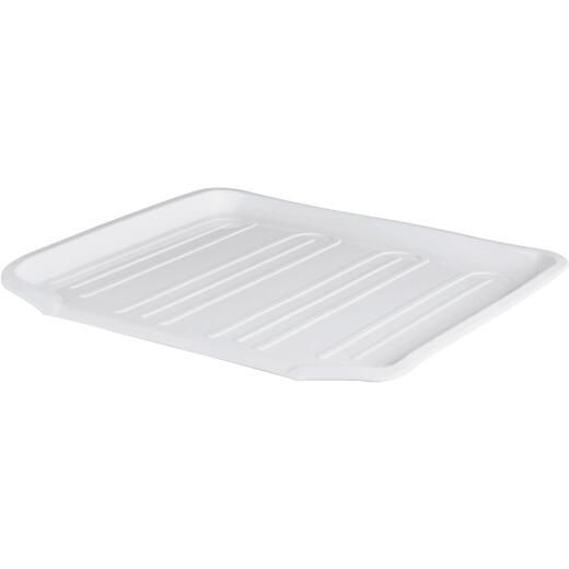 Rubbermaid 14.38 In. x 15.38 In. White Sloped Drainer Tray