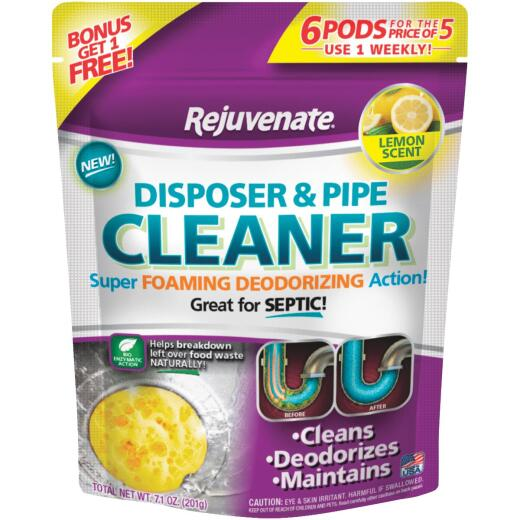 Rejuvenate Lemon Disposer & Pipe Cleaner (6-Count)