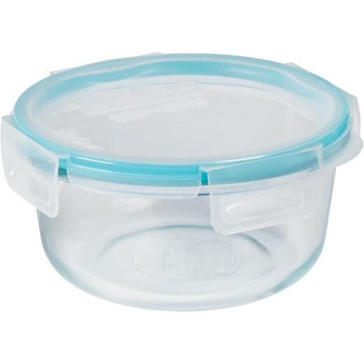Snapware Total Solution 4-Cup Round Pyrex Glass Storage Container with Lid