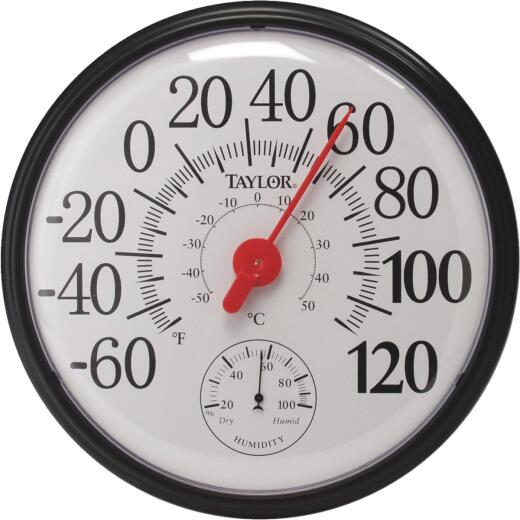 Taylor Fahrenheit & Celsius Analog -60 To 120 F, -50 to 50 C Hygrometer & Thermometer