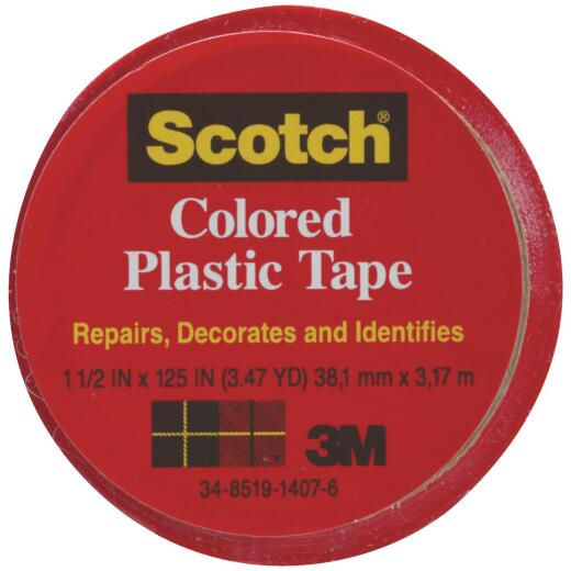 Scotch 1-1/2 In. Red Colored Plastic Tape