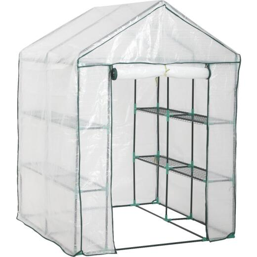 Best Garden 4 Ft. 8 In. W. x 6 Ft. 5 In. H. x 4 Ft. 8 In. D. Walk-In Greenhouse