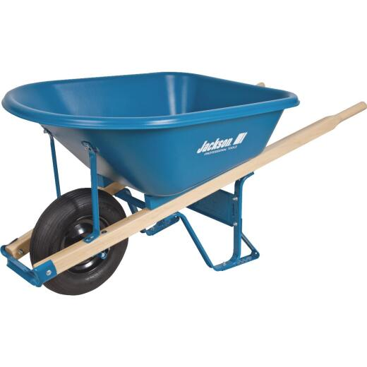 Jackson Contractor 6 Cu. Ft. Poly Wheelbarrow