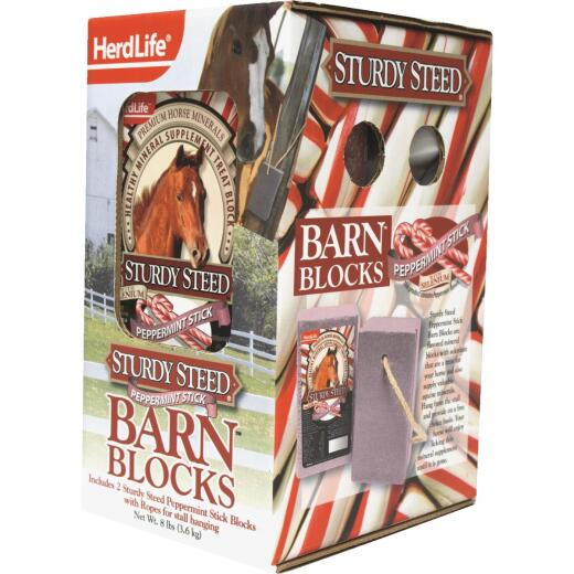 HerdLife Sturdy Steed 4 Lb. Peppermint Horse Block (2-Pack)