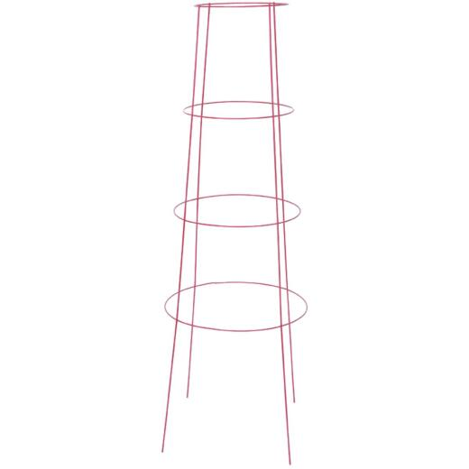 Panacea 48 In. Red Powder Coat Heavy-Duty Wire Inverted Tomato Cage