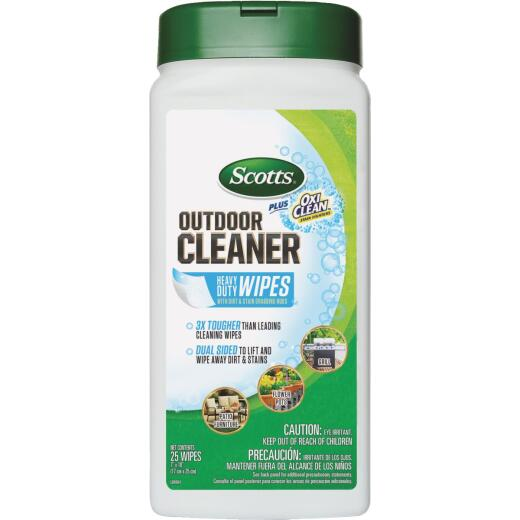 Scotts 25 Ct. Outdoor Cleaner Wipes Plus OxiClean
