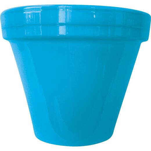 Ceramo Spring Fever 6-1/2 In. H. x 5-1/2 In. Dia. Robin's Egg Blue Clay Flower Pot