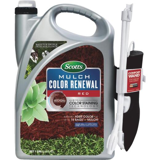 Scotts 1 Gal. Ready To Use Wand Sprayer Red Mulch Color Renewal