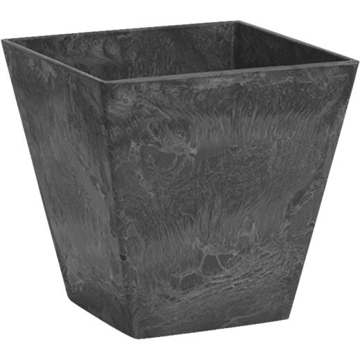 Novelty ArtStone Ella 8 In. W. x 8 In. H. x 8 In. L. Black Resin Planter