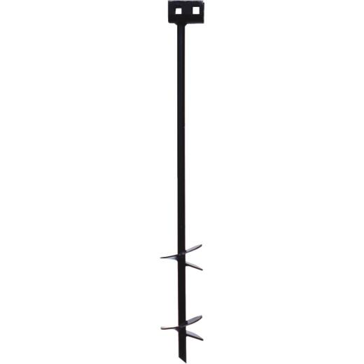 Tie Down 4 In. x 30 In. Black Iron Double Head Earth Anchor