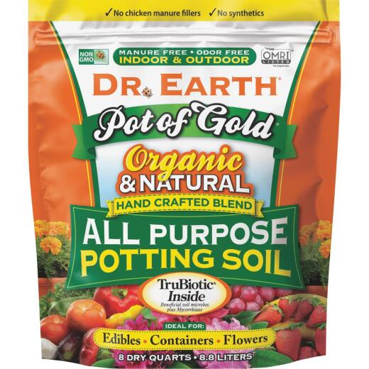 Dr. Earth Pot of Gold 8 Qt. All Purpose Container Potting Soil