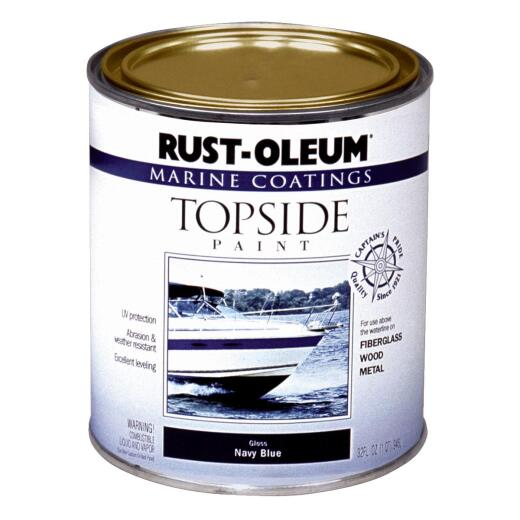Rust-Oleum Gloss Marine Boat Topside Paint, White, 1 Qt.